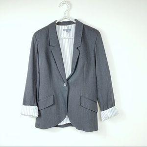 Vince. black blazer 8 pinestriped #V0144-90161